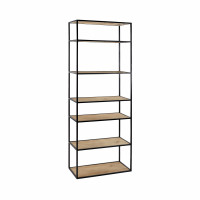 ESZENTIAL - rack - wood - metal - L 60 x W 30 x H 165 cm - natural/black