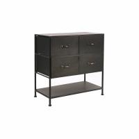 TYPOGRAPHIC - cabinet 4 drawers - iron - L 78 x W 43 x H 80,5 cm - black