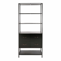 TYPOGRAPHIC - rack - iron - L 78 x W 43 x H 180,5 cm - black