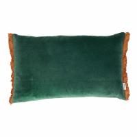 NICOLA - kussen - velvet - L 50 x W 30 cm - groen