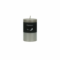 CANDLE - kaars - paraffine wax - DIA 5 x H 8 cm - zilver