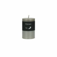 CANDLE - candle - paraffin wax - DIA 5 x H 8 cm - silver