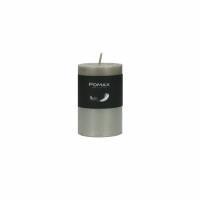 CANDLE - kaars - paraffine wax - DIA 5 x H 8 cm - zilver