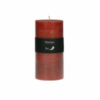 CANDLE - kaars - paraffine wax - DIA 7 x H 14 cm - terracotta