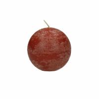 CANDLE - bougie boule - cire de paraffine - DIA 6 cm - terracotta