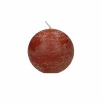 <p>CANDLE - kaars bol - paraffine wax - DIA 6 cm - terracotta</p>