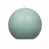 CANDLE - candle ball - paraffin wax - DIA 9 cm - light green