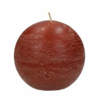 CANDLE - bougie boule - cire de paraffine - DIA 9 cm - terracotta
