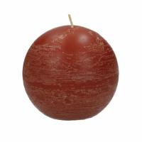 <p>CANDLE - kaars bol - paraffine wax - DIA 9 cm - terracotta</p>