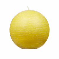 CANDLE - candle ball - paraffin wax - DIA 9 cm - yellow