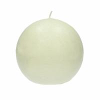 CANDLE - kaars bol - paraffine wax - DIA 9 cm - ivoor