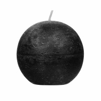 CANDLE - candle ball - paraffin wax - DIA 9 cm - black
