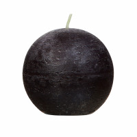 CANDLE - kaars bol - paraffine wax - DIA 9 cm - zwart