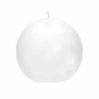 CANDLE - candle ball - paraffin wax - DIA 9 cm - White
