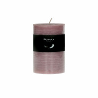 CANDLE - kaars - paraffine wax - DIA 7 x H 10 cm - licht roze