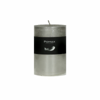 CANDLE - kaars - paraffine wax - DIA 7 x H 10 cm - zilver