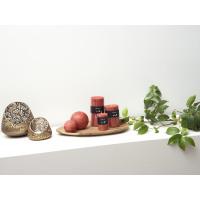 CANDLE - kaars - paraffine wax - DIA 7 x H 10 cm - terracotta