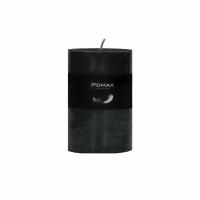 CANDLE - kaars - paraffine wax - DIA 7 x H 10 cm - zwart