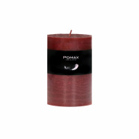 CANDLE - kaars - paraffine wax - DIA 7 x H 10 cm - rood