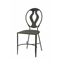 LYRE - chair - metal - rusty grey- 44x54x96cm