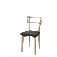 BOUCLE - chair - oak/cotton poly-  anthracite - 45x45x82cm