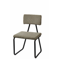 TRIBU - chair-  steel/cotton-  tweed dark grey - 47x47x80cm