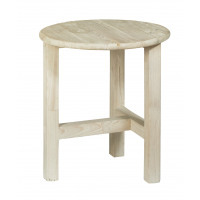 BOTTE-CUL - Stool - recycled south pine - grey white - Ø42x47cm