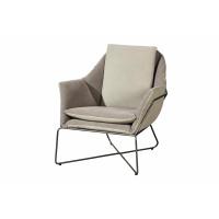 ANSELM - armchair - skay/cotton/metal - bicolor - 77x87x76 cm