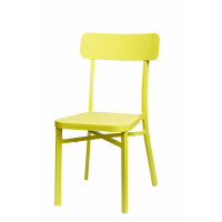 POPPY - chair - aluminium powder coating - sandy lemon - 46x52x85 - in/outdoor use