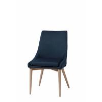 EERO - stoel - polyester/essehout - jeans blauw  - 61x50x88 cm