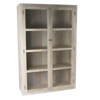 TIGA  - window cabinet  - mango wood - L 118 x W 42 x H 180 cm