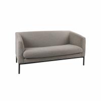 CONY  - 2-seater - fabric / metal - L 140 x W 73,5 x H 74 cm - light grey