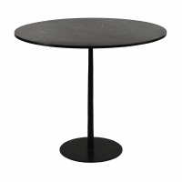 BISTRO - table - marble - DIA 90 x H 76 cm - noir