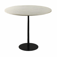 BISTRO - table - marble - DIA 90 x H 76 cm - white