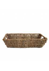 Seagrass tray with cut-out handles basket Natural 30x20x7