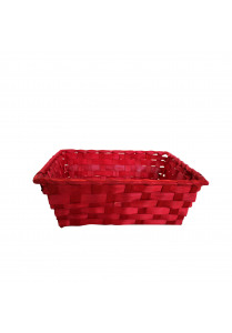 Bamboo basket red