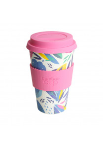 Bamboo Cup Pink - Leaf