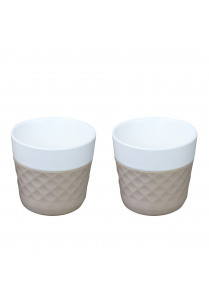 Lola Coffeecups 12cl – Taupe (2 st)