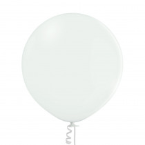 Ballon Metallic Uni 60cm Wit