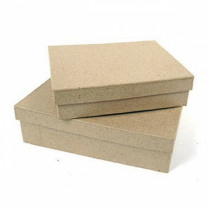 Doos Rechthoekig (XXS) Papier-Maché 10x7x2,5cm