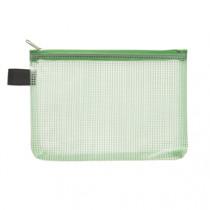 Pochette Groen Met Rits Transparant A6
