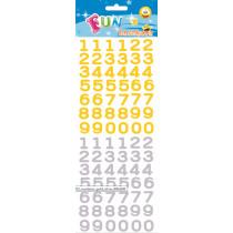 Fun Stickers Nummers Goud/Zilver