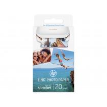 HP Sprocket Fotopapier 5x7.6cm 20 Vellen