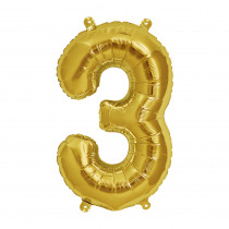 Ballon Folie 41cm Goud '3'