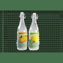 Fles Assortiment 32,5cm Multicolor 8,5cm Diameter - 1L Orange/Lemonade
