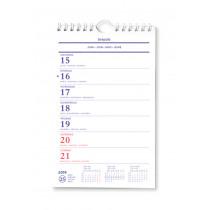 Brepols Wand-Weekkalender 135x210mm 4-Talig 1 Week Per Pagina