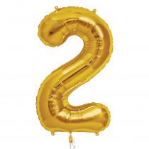 Folieballon 86cm Goud '2'