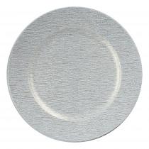 Decobord Wit 33cm Diameter Goud Gelijnd