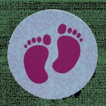 Sticker Voetjes Roze (2Vel À 20St) 40 Stuks