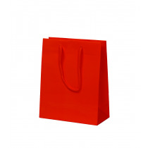 Draagtas Papier Rood 157G/M² 20+10x25cm Glanzend
